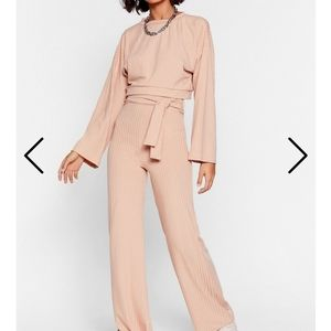 Nasty Gal long sleeve top and wide leg pant set